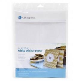 Silhouette printbaar wit sticker papier