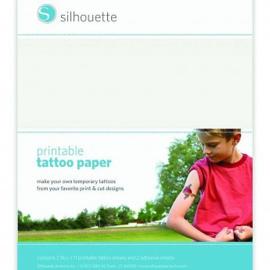 Silhouette tatoeage papier transparant