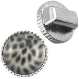 DQ metaal vintage slider voor 12mm cabochon zilver