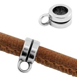 DQ metaal ring met oog Ø3.8mm Antiek zilver (nikkelvrij)