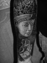 Lavasteen - Edelsteen met  Buddha's