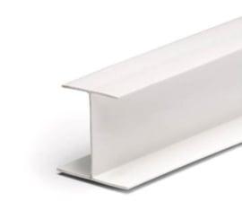 H-profiel wit kunststof (31mm)