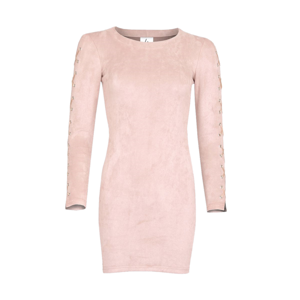 LA Sisters - Lace Up Dress Pink