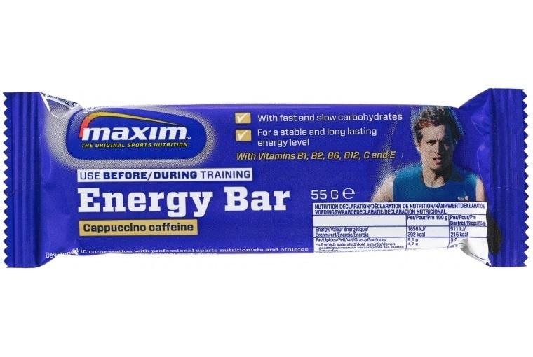 Maxim Energy Bar Cappuccino Caffeine