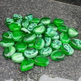 Glassteentjes green swirl
