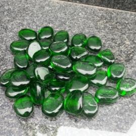 Glassteentjes doorzichtig groen