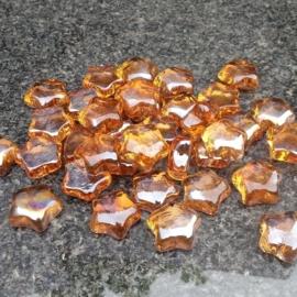 Glassteentjes oranje sterretjes