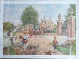 Poster: Een buitenplaats aan de Vecht ± 1740 - ca. 1975 (1956)