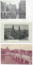 SET van 3 ansichtkaarten – Amsterdam