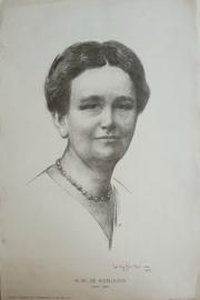 Prent – H.M. DE KONINGIN 1898-1923 – Willy Sluiter (1873-1949) - 1923