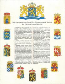 BIJZONDERHEDEN OVER HET NEDERLANDSE WAPEN EN DE PROVINCIE-WAPENS - 1963