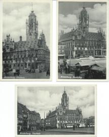 SET van 3 ansichtkaarten – Middelburg - ca. 1936 (#)