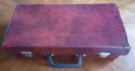Koffer – muziek cassettes - kunststof – bruin - jaren '80
