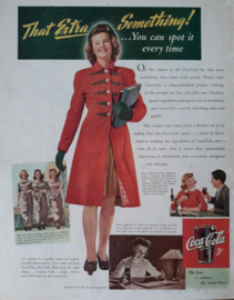 Prent - Coca-Cola - 'That Extra Something!' - 1943