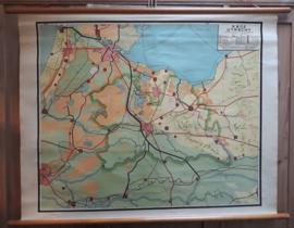 Wandkaart: Utrecht (Blinde schoolkaart) - ca. 1955