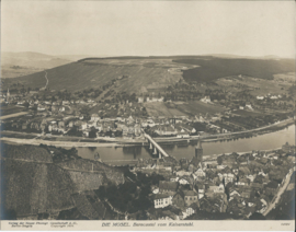 Prent – FOTO – DIE MOSEL. Berncastel vom Kaisertuhl. -1919 - 2 stuks