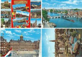 SET van 4 ansichtkaarten - Amsterdam