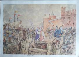 Poster: Jacoba van Beieren voor Gorinchem, 1 december 1417 - ca. 1975 (1956)