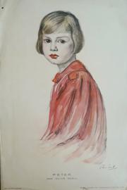 Prent – PETER DOOR OLIVE SNELL - 1924