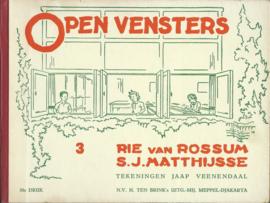 OPEN VENSTERS 3 en 5 – RIE van ROOSUM / S.J. MATTHIJSSE - 2 STUKS - ca. 1935-1940
