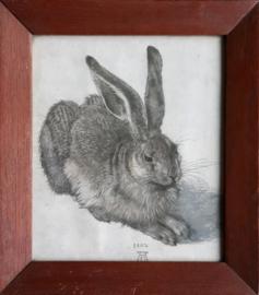Een jonge veldhaas – (Albrecht Dürer) - in lijst