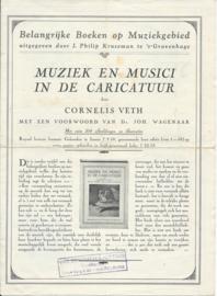 Folder – Belangrijke Boeken op Muziekgebied - ca. 1927