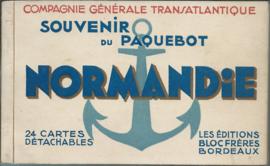 SOUVENIR DU PAQUEBOT NORMANDIE (23/24) - 1937
