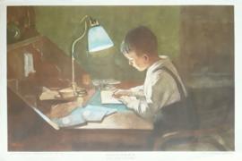 Prent – HUISWERK DOOR H.M. KRABBÉ - (1916) - 1923