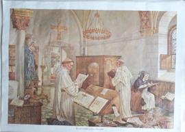 Poster: In een middeleeuws klooster - ca. 1975 (1972)