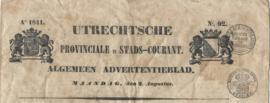 UTRECHTSCHE PROVINCIALE EN STADS-COURANT.  Ao 1841. – No. 92.