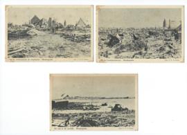 Set van 5 ansichtkaarten – Westkapelle  oorlogsschade (#)