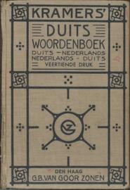 KRAMERS' DUITS WOORDENBOEK - DUITS-NEDERLANDS EN NEDERLANDS-DUITS - 1941