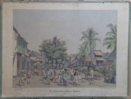 Schoolplaat: De Chineesche kamp te Batavia - Java  (W.C.C. Bleckmann) - 1915-1924