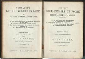 CAMPAGNE'S SCHOOL- WOORDENBOEK DER FRANSCHE EN NEDERLANDSCHE TALEN - 1900