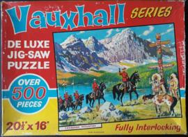 JIGSAW PUZZLE – Vauxhall SERIES DE LUXE JIG_SAW PUZZLE – CANADIAN MOUNTIES – jaren '60