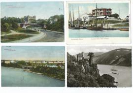 SET van 4 ansichtkaarten – Duitsland – 1909, 1922