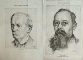 Set van 2 prenten - NEDERLANDSCHE SCHILDERS - BIJVOEGSEL , van de Amsterdammer, Weekblad voor Nederland – 1915/1916