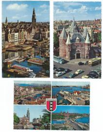 SET van 3 ansichtkaarten - Amsterdam – jaren '60