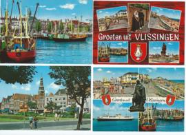 SET van 4 ansichtkaarten - Vlissingen (#)