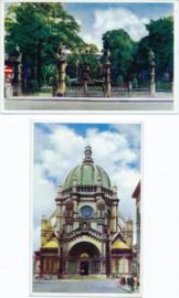 SET van 2 ansichtkaarten - België - BRUXELLES / BRUSSEL - ca. 1950