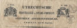 UTRECHTSCHE PROVINCIALE EN STADS-COURANT. Ao 1841. – No. 103.