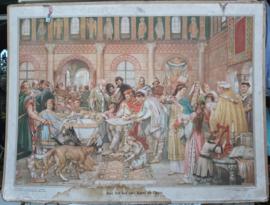 Schoolplaat: Aan het hof van Karel de Grote. - ca. 1941