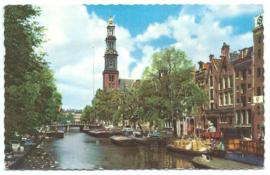 Ansichtkaart - Amsterdam - Prinsengracht - Leporello kaart met 10 fotootjes