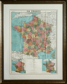 Prent – kaart – LA FRANCE - No 17 - ca. 1939