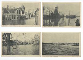 Set van 13 ansichtkaarten – Middelburg 1944