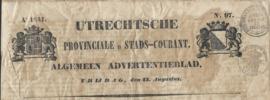 UTRECHTSCHE PROVINCIALE EN STADS-COURANT. Ao 1841. – No. 97.