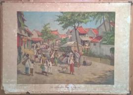 Schoolplaat: De Chineesche kamp te Batavia - Java (J. Gabriëlse) - ca. 1927