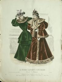 Prent - LA MODE ELEGANTE ILUSTRADA - 1893