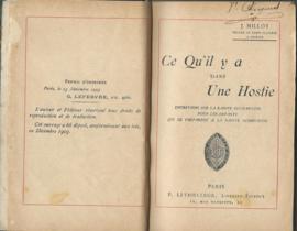 Ce Qu'il y a Dans Une Hostie – J. MILLOT 1903 (#)