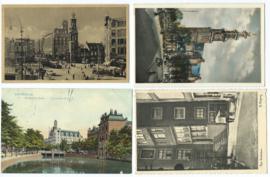 SET van 4 ansichtkaarten - Amsterdam – 1912-1957